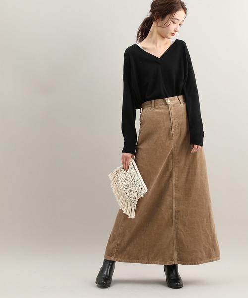 [ViS] 【Lee×ViS】コーデュロイロングスカート