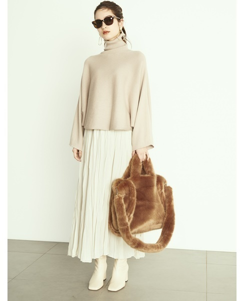 [Mila Owen] ウールワッシャーロングスカート
