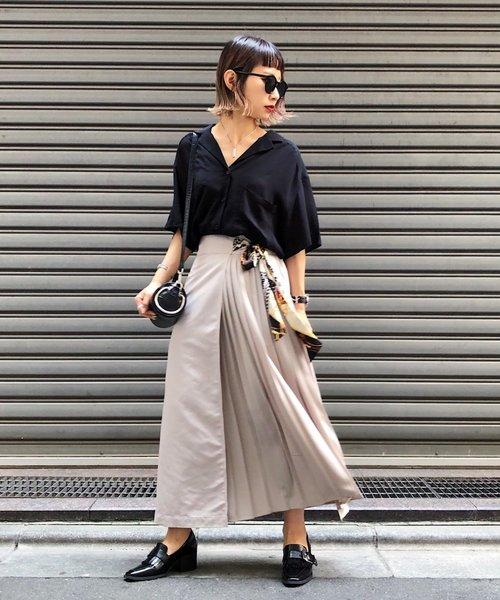 [PAGEBOY] スカーフサイドプリーツスカート