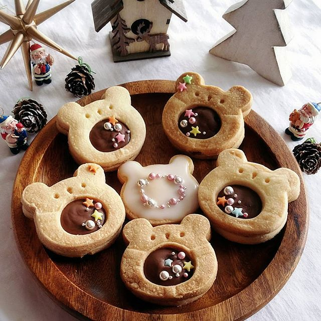 おしゃれレシピにくまさんのチョコサンドクッキー