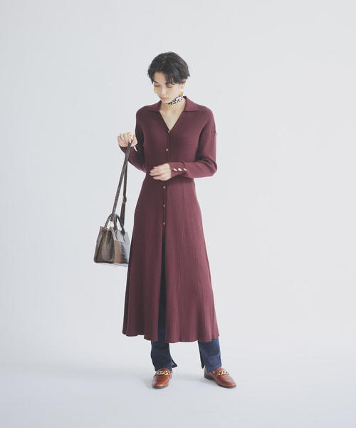 [EMMEL REFINES] FC シャツエリ リブワンピース