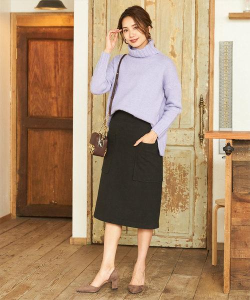 [titivate] ビッグポケットAラインスカート