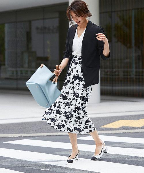[tocco closet] レトロフラワーマーメードスカート