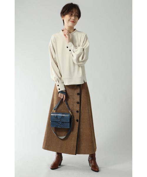 [ROSE BUD] コーデュロイパイピングスカート