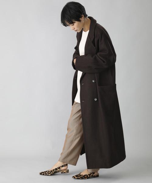 [FREAK'S STORE] BASISBROEK/バージスブルック KING/ロング丈ウールチェスターコート