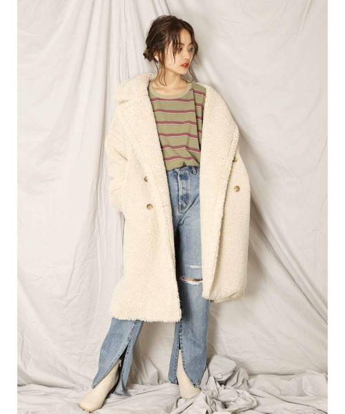 [Ungrid] ボアボリュームミドル丈コート