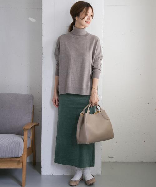 [URBAN RESEARCH DOORS] 【Oggi掲載】コーデュロイマキシストレートスカート