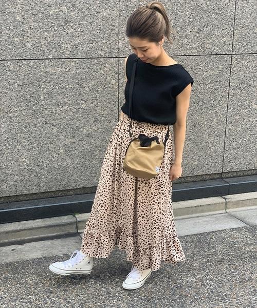 [FREDY&GLOSTER] アニマル柄フリルヘムスカート