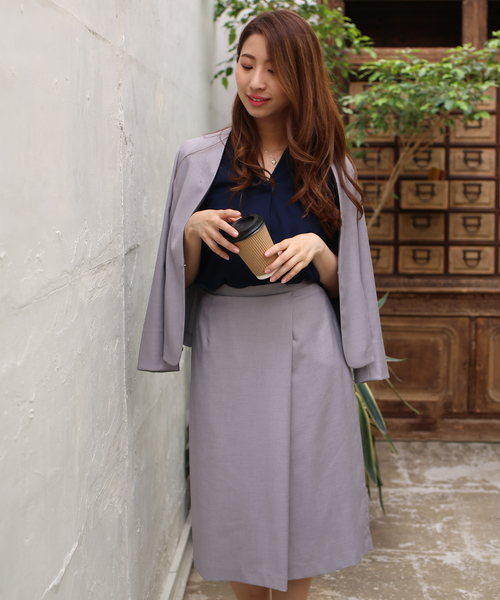 3[ASTORIA ODIER] ウォッシャブル カラーレスジャケット