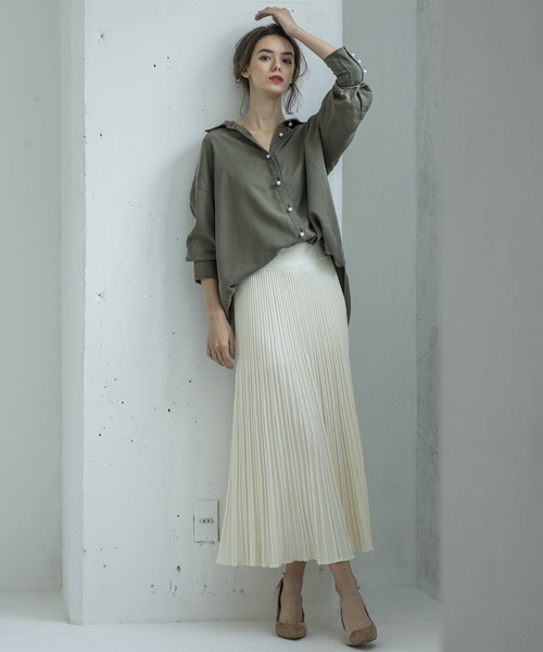 [STYLE BAR] 【STYLEBAR】ニットプリーツスカート