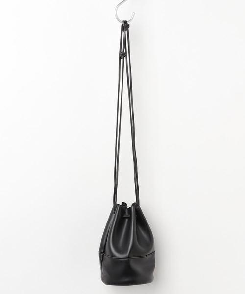 [210nouve] フェイクレザーミニ巾着ショルダーバッグ