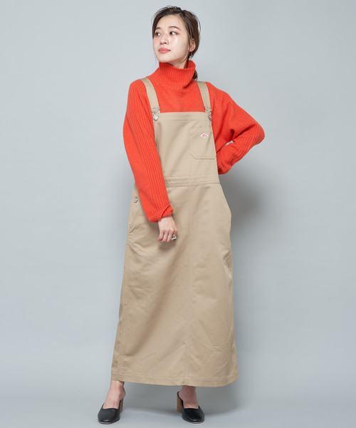 [CIAOPANIC] 【DANTON/ダントン】T/C TWILL SK/ジャンパースカート/サロペットスカート