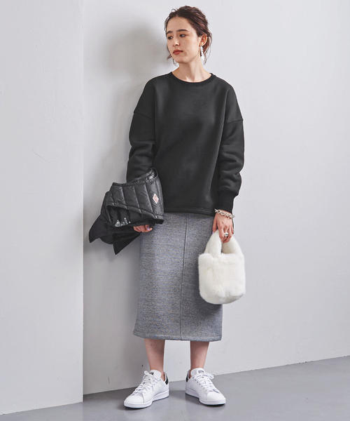 [UNITED ARROWS] <STYLE for LIVING>ウラケ サイドスリット ビッグプルオーバー
