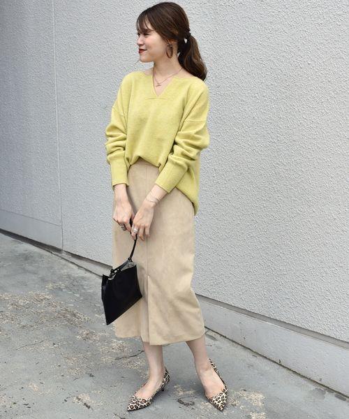 [SHIPS for women] フェイクスエードタイトスカート◇