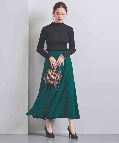 [UNITED ARROWS] UWSC P セミフレア ロングスカート