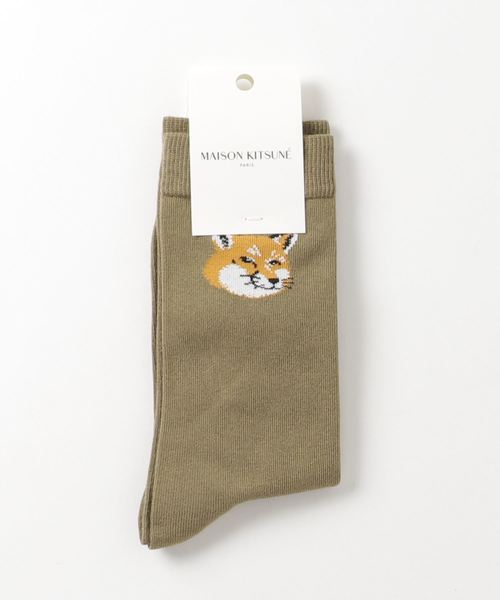 [MAISON KITSUNE] FOX HEAD SOCKS