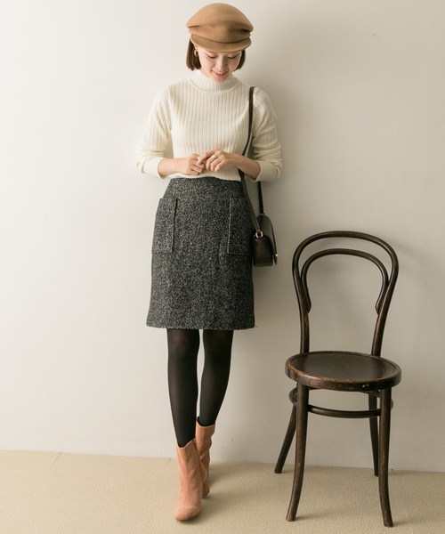 冬のスカートスタイル2