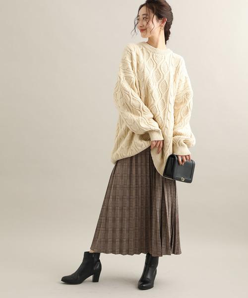 [ViS] 【WEB限定】ジャガードプリーツスカート
