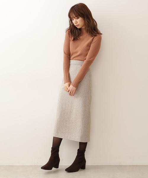 [PROPORTION BODY DRESSING] 【CanCam掲載】ヘリンボーンロングタイトスカート