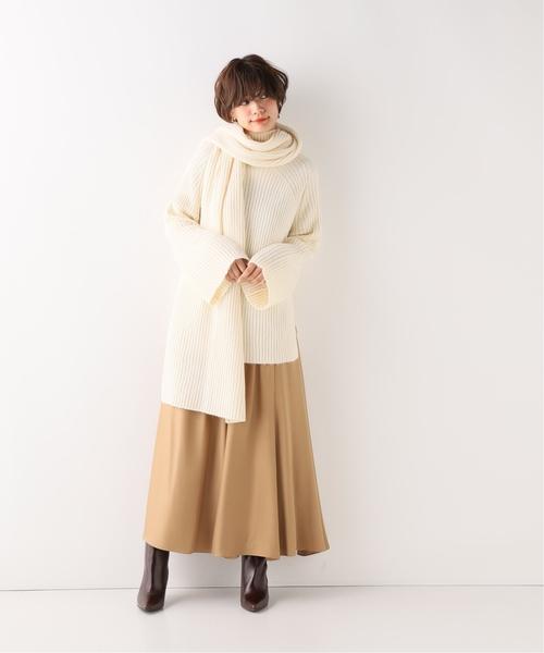 [Spick & Span] 【MIJEONG PARK】スカーフ付きリブ編みニットトップ◆