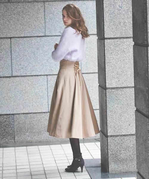 [Noela] ハイウエストフレアスカート