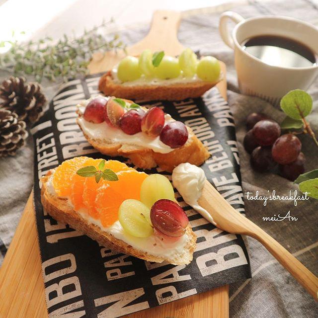 美味しい朝食料理に!フルーツオープンサンド