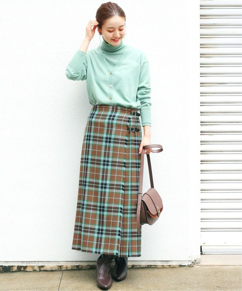 [IENA] 【TARA MILLS/タラ ミルズ】チェックキルトスカート◆