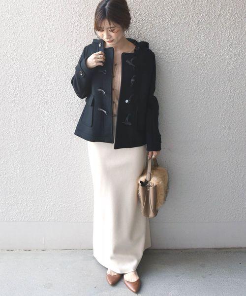 ショートダッフル×マキシスカート