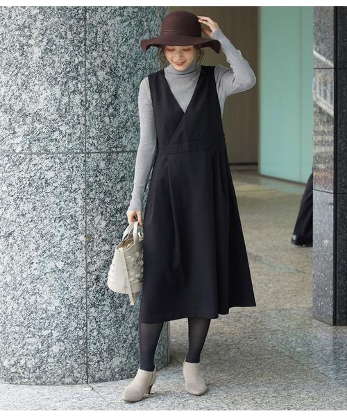 [ROPE' PICNIC] 【WEB限定】プレミアムフィールジャンパースカート