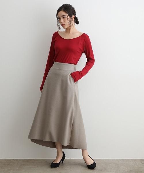 [ADAM ET ROPE'] ウールリングフレアースカート