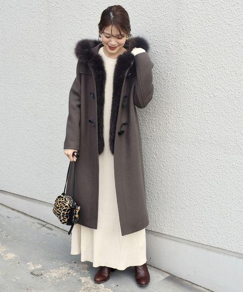 北海道 3月 服装 ワンピースコーデ