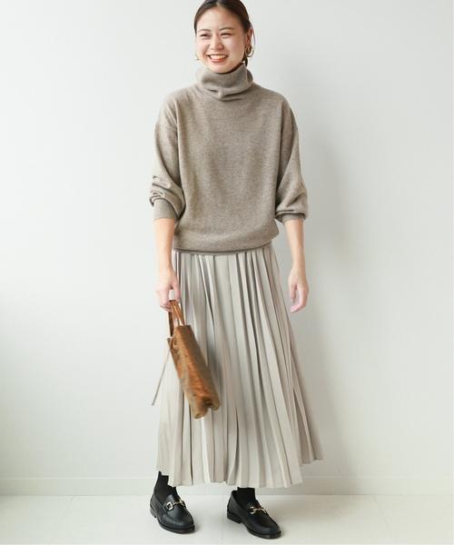 [JOURNAL STANDARD] サテンプリーツスカート◆