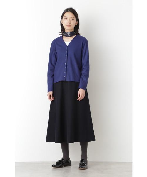[HUMAN WOMAN] ◆ライトモールスキンスカート
