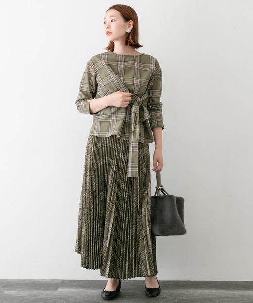 [URBAN RESEARCH ROSSO WOMEN] チェックプリーツスカート