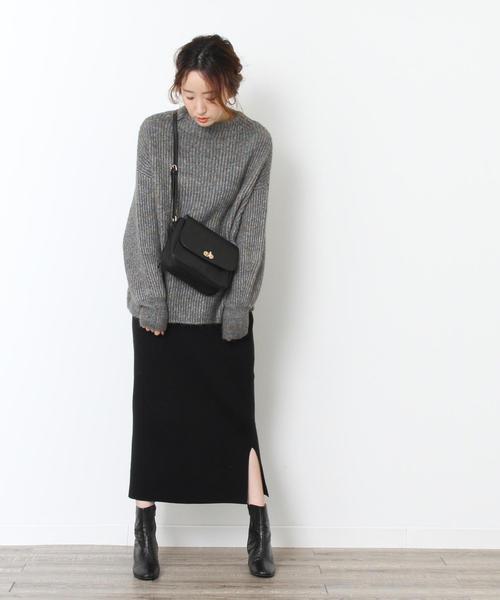[coen] 【セットアップ対応・WEB限定カラー: モカ ・ベージュが登場】スムースタイトニットスカート