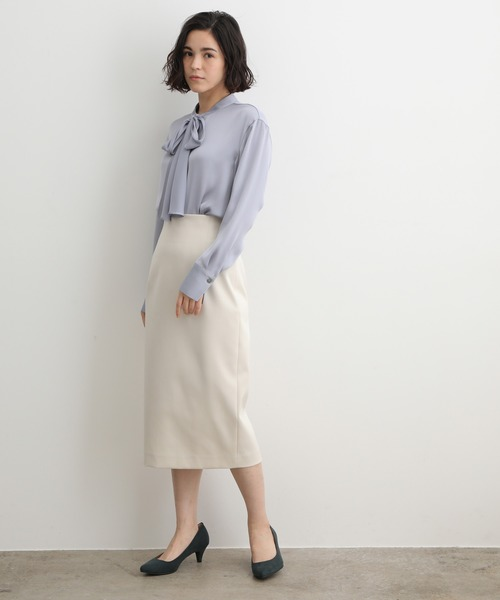 [ADAM ET ROPE'] バックベルトタイトスカート
