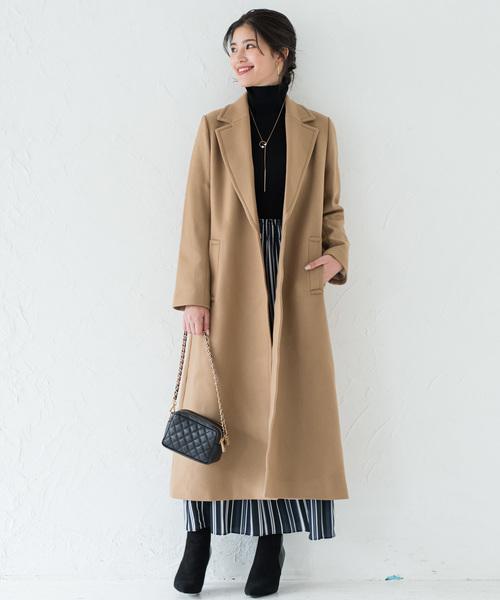 [Loungedress] メルトンマキシコート