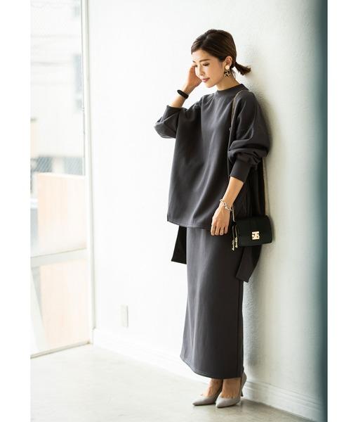 [tocco closet] 《Noriko & Michiko Collaboration Collection》裏起毛スウェットスリットプルオーバー
