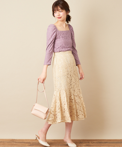 [natural couture] osonoレーススカート