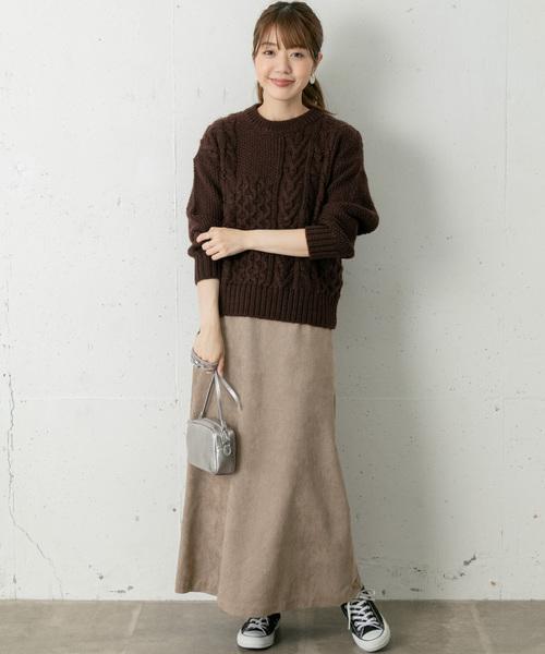 トレンドのブラウンレディースファッション