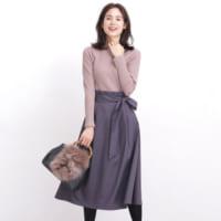 着るだけでおしゃれなデザインワンピースで作る♪初心者向けの大人女子コーデ♡