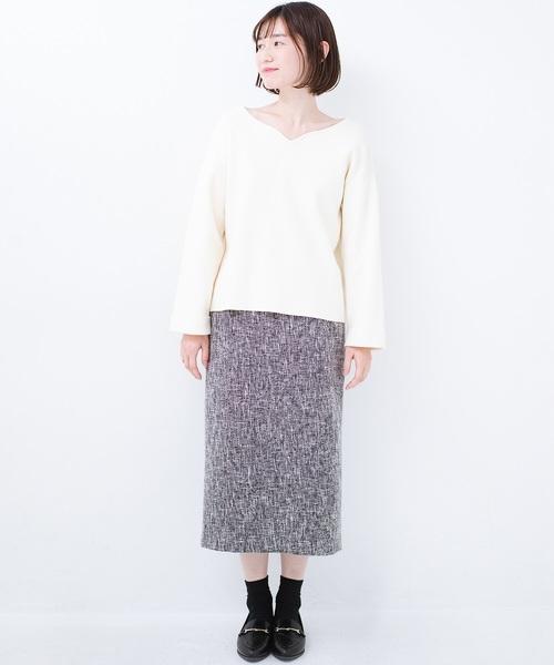 [haco!] きちんと見せたいときのツイード調スカート by que made me