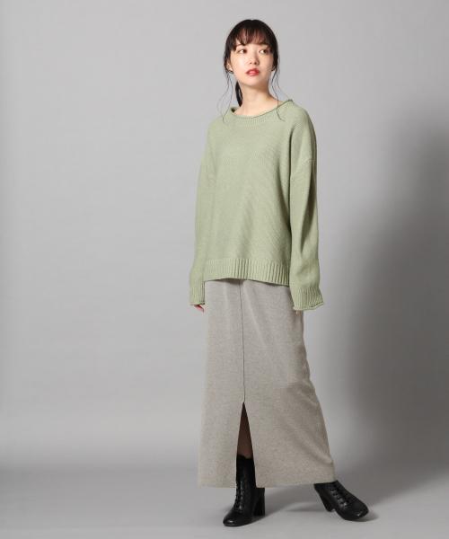 [LOWRYS FARM] ウールコンニットスカート 856229