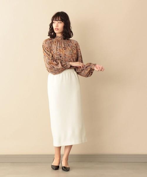 [SANYO SELECT] メランジニットタイトスカート