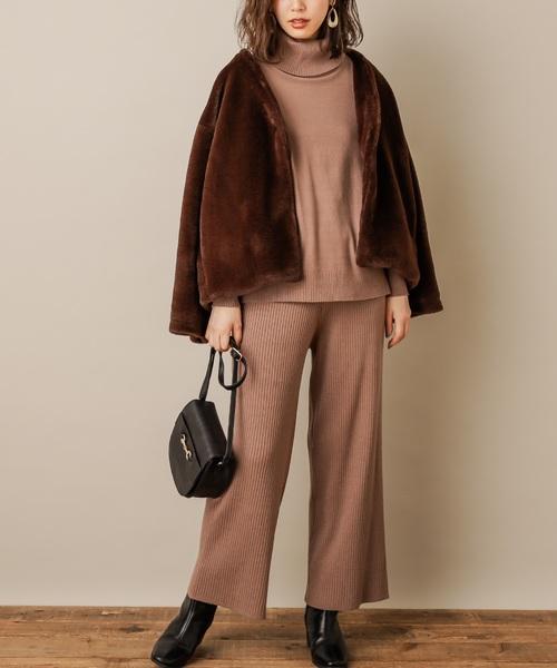 [natural couture] お上品リッチエコファーコート
