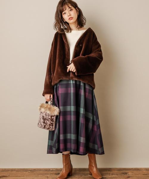 北海道 3月 服装 スカートコーデ5