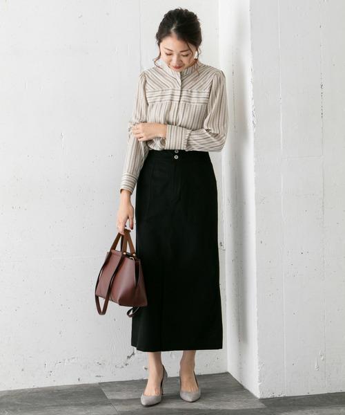 [URBAN RESEARCH ROSSO WOMEN] モールスキンタイトスカート