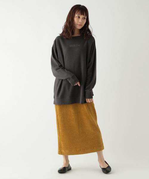 [studio CLIP] カラーコーデュロイタイトスカート
