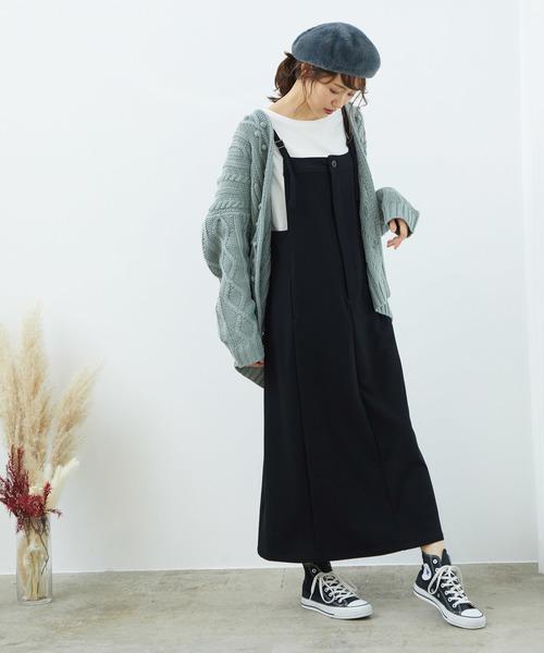 [ROPE' PICNIC] ソフトストレッチジャンパースカート