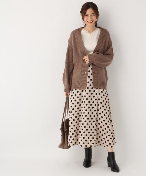 [GLOBAL WORK] クルミボタンプリントスカート【HYPE LIMITED LINE】/853022